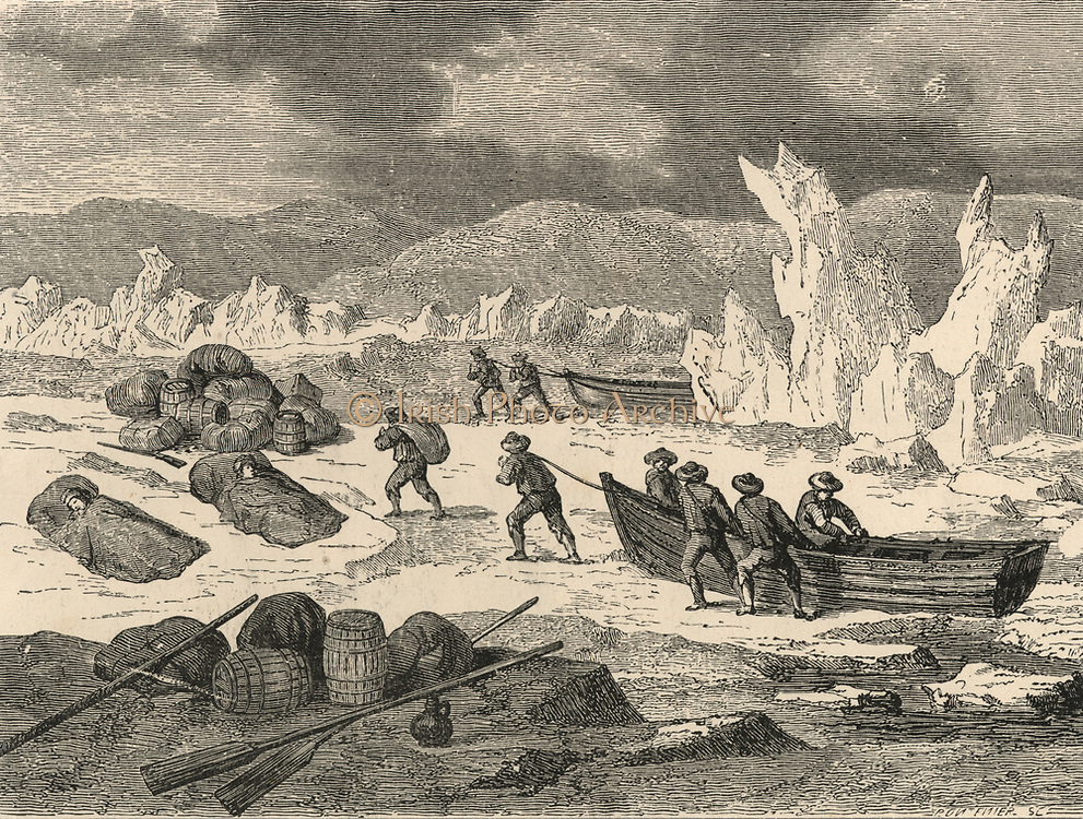 'Hugh Willoghby (d1554) English Arctic explorer, led the fatal expedition 1553-1554 in the ''Bona Esperenza''. Crew salvaging everything possible from their wrecked vessel. Bodies found by Russian fisherman 1554.'