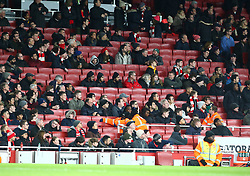 December 19, 2018 - London, England, United Kingdom - London, UK, 19 December, 2018.Arsenal Fans left early.during Carabao Cup Quarter - Final between Arsenal and Tottenham Hotspur  at Emirates stadium , London, England on 19 Dec 2018. (Credit Image: © Action Foto Sport/NurPhoto via ZUMA Press)