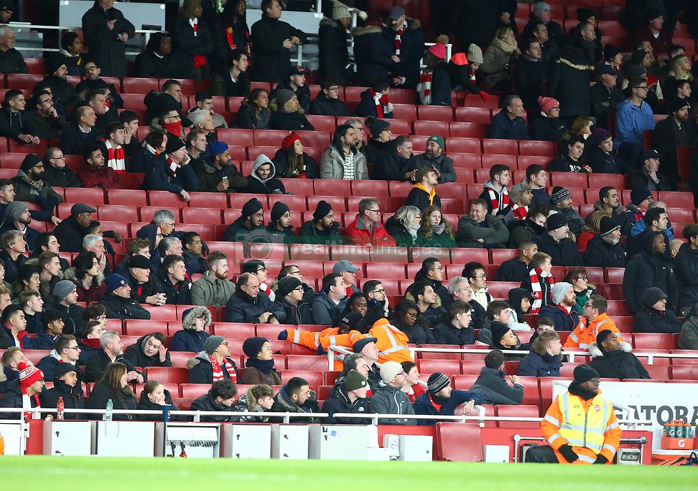 December 19, 2018 - London, England, United Kingdom - London, UK, 19 December, 2018.Arsenal Fans left early.during Carabao Cup Quarter - Final between Arsenal and Tottenham Hotspur  at Emirates stadium , London, England on 19 Dec 2018. (Credit Image: © Action Foto Sport/NurPhoto via ZUMA Press)