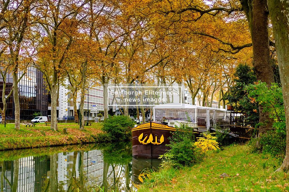 Pleasure craft on the Canal du Midi, Toulouse, France<br /> <br /> (c) Andrew Wilson   Edinburgh Elite media