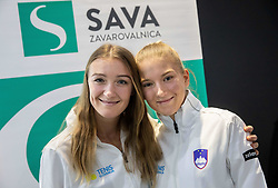 Nina Potocnik and Nika Radisic during press conference of Slovenia Fed Cup tennis team, on January 31, 2019 in Telemach shop, TUS centre, BTC, Ljubljana, Slovenia. Photo by Vid Ponikvar / Sportida