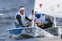 Seiling , 4. august 2016 RIO DE JANEIRO, - OLYMPICS, SAILING - Olympic Summer Games Rio 2016, laser, men. Image shows Kristian Ruth (NOR). <br /> Norway only