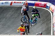 BMX Qualification, Arthur Pilard (France), Paddy Sharrock (Great Britain) during the Cycling European Championships Glasgow 2018, at Glasgow BMX Centre, in Glasgow, Great Britain, Day 9, on August 10, 2018 - Photo luca Bettini / BettiniPhoto / ProSportsImages / DPPI<br /> - Restriction / Netherlands out, Belgium out, Spain out, Italy out -