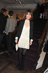 SHEHERAZADE GOLDSMITH at a party to celebrate thelaunch of Alice Temperley's flagship store Temperley, Bruton Street, London on 6th December 2012.