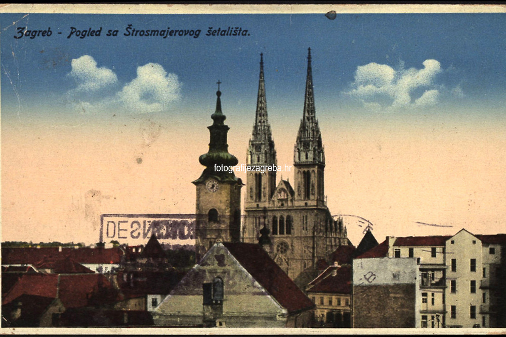 Zagreb : Pogled sa Štrosmajerovog šetališta. <br /> <br /> ImpresumZagreb : [1931.].<br /> Materijalni opis1 razglednica : tisak ; 8,9 x 14 cm.<br /> NakladnikPapirna H. Ruždija<br /> Vrstavizualna građa • razglednice<br /> ZbirkaGrafička zbirka NSK • Zbirka razglednica<br /> Formatimage/jpeg<br /> PredmetZagreb –– Kaptol<br /> Katedrala Uznesenja Marijina (Zagreb) • Crkva sv. Marije (Zagreb)<br /> SignaturaRZG-KAP-14<br /> Obuhvat(vremenski)20. stoljeće<br /> NapomenaRazglednica je putovala 1931. godine.<br /> PravaJavno dobro<br /> Identifikatori000955309<br /> NBN.HRNBN: urn:nbn:hr:238:420940 <br /> <br /> Izvor: Digitalne zbirke Nacionalne i sveučilišne knjižnice u Zagrebu