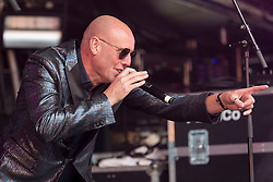 Heaven 17 performing at Party At The Palace Music Festival in Linlithgow Palace grounds on Sunday 14th August 2016.<br /> <br /> Glenn Gregory<br /> Martyn Ware<br /> <br /> Alan Rennie/ EEm