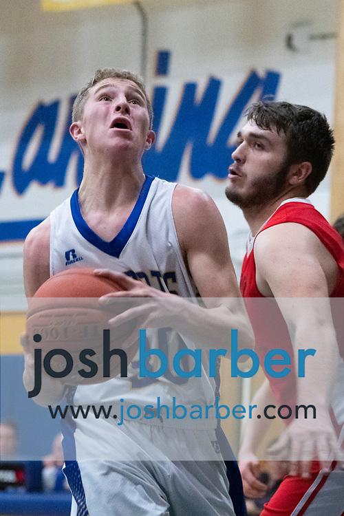 Lansing's Ethan Burt during the game at Lansing High School on Thursday, December 20, 2018 in Lansing, New York. (Photo/Josh Barber)