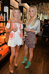 Left to right, GEORGIA TOFFOLO and NICOLA HUGHES at the launch of the new Rituals store at 29 James Street, Covent Garden, London on 1st September 2016.