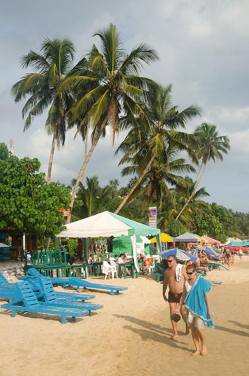 People on Mirissa beach, Sri Lanka