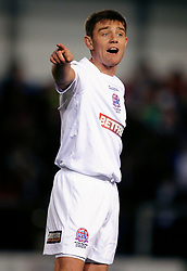 Fylde's Sam Finley during the Emirates FA Cup second round match at Mill Farm, Flyde