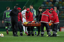 December 13, 2018 - Lisbon, Portugal - Sporting's forward Fredy Montero from Colombia gets injury and leaves the pitch during the UEFA Europa League Group E football match Sporting CP vs FC Vorskla Poltava at Alvalade stadium in Lisbon, Portugal on December 13, 2018  (Credit Image: © Pedro Fiuza/NurPhoto via ZUMA Press)