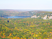 Aerial view of Devil's Lake State Park, Sauk County, Wisconsin.