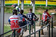 #155 (KLESHCHENKO Evgeny) RUS during practice at Round 5 of the 2018 UCI BMX Superscross World Cup in Zolder, Belgium