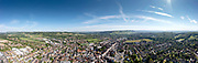 Aerial drone panoramic image view of Dorking Town Centre with St.Martin's Church, Dorking High Street and Box Hill.<br /> <br /> Aerial drone panorama image view of Dorking Town Centre with St.Martin's Church, Dorking High Street and Box Hill.<br /> <br /> Image available to purchase with a licence for commercial and personal use. Please contact alex@alexorrow.co.uk or 07768152787.  For pricing: https://archive.alexorrow.co.uk/p/sfsf