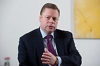 21 JAN 2010, BERLIN/GERMANY:<br /> Iaian Conn, Chief executive Refining and Marketing, Executive member of the BP board of directors, waehrend einem Interview, BP Buero Berlin<br /> IMAGE: 20100121-01-011