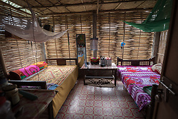 14 September 2018, Damak, Nepal:  Supported by the Lutheran World Federation, the Beldangi refugee camp in the Jhapa district of Nepal hosts more than 5,000 Bhutanese refugees. Here, inside one of the camp's many homes.