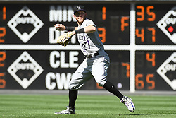 June 14, 2018 - Philadelphia, PA, U.S. - PHILADELPHIA, PA - JUNE 14: Colorado Rockies Shortstop Trevor Story (27) looks to throw during the MLB baseball game between the Philadelphia Phillies and the Colorado Rockies on June 14, 2018 at Citizens Bank Park in Philadelphia, PA. The Phillies won 9-3. (Photo by Andy Lewis/Icon Sportswire) (Credit Image: © Andy Lewis/Icon SMI via ZUMA Press)