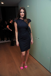 LISA SNOWDON at a party to celebrate the announcement of the 20 shortlisted designers for the UK final of the Triumph Inspiration Award 2011 held at the home of Charlotte Stockdale, 8 Francis Street, London SW1 on 31st March 2011.
