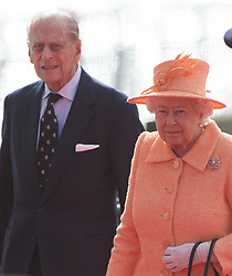 Queen Elizabeth ll and Prince Philip, Duke of Edinburgh attend the inaugural celebrations and naming ceremony of the new P&O Cruises ship Britannia in Southampton on March 10, 2015.