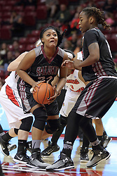04 January 2015:   Azia Washington during an NCAA MVC (Missouri Valley Conference) women's basketball game between the Southern Illinois Salukis and the Illinois Sate Redbirds at Redbird Arena in Normal IL