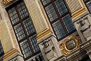 Detail of the Maison des Ducs de Brabant facade, Brussels, Belgium