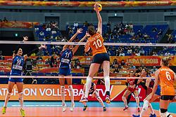 19-10-2018 JPN: Semi Final World Championship Volleyball Women day 20, Yokohama<br /> Serbia - Netherlands / Lonneke Sloetjes #10 of Netherlands, Stefana Veljkovic #11 of Serbia