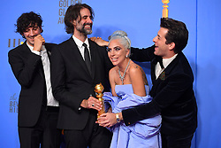 January 6, 2019 - Los Angeles, California, U.S. - Anthony Rossomando, Andrew Wyatt, Lady Gaga and Mark Ronson in the Press Room during the 76th Annual Golden Globe Awards at The Beverly Hilton Hotel. (Credit Image: © Kevin Sullivan via ZUMA Wire)