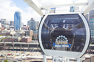 The Seattle Great Wheel is a giant Ferris wheel at Pier 57 on Elliott Bay in Seattle, Washington. With an overall height of 175 feet and is built over the water offering great views of downtown Seattle, glimpses of the space wheel and view of Elliot Bay.