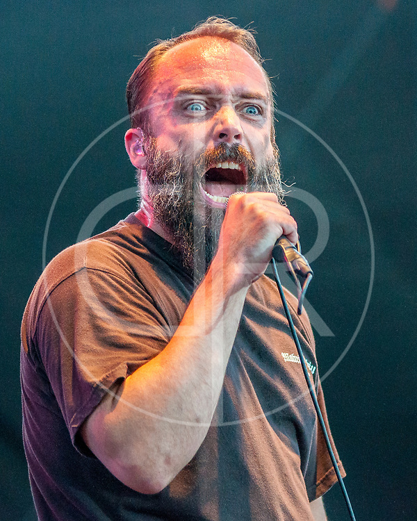 BALTIMORE United States - September 27, 2014: Clutch frontman Neil Fallon, performs at The Shindig, in Baltimore's historic Carroll Park