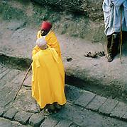 Priests in discussion at Lalibela, Ethiopia.