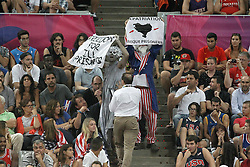 09.09.2014, City Arena, Barcelona, ESP, FIBA WM, Slowenien vs USA, im Bild Basque independence activists // during FIBA Basketball World Cup Spain 2014 match between Slovenia and USA at the City Arena in Barcelona, Spain on 2014/09/09. EXPA Pictures © 2014, PhotoCredit: EXPA/ Alterphotos/ Acero<br /> <br /> *****ATTENTION - OUT of ESP, SUI*****
