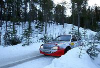Ål 180103 - Rally NM åpning i Hallingdal - Lars Morten Berntstuen og kartleser Arne Ingar Stulen NMK Hadeland ble nummer fem i nasjonal klasse.<br /> <br /> Foto: Andreas Fadum, Digitalsport
