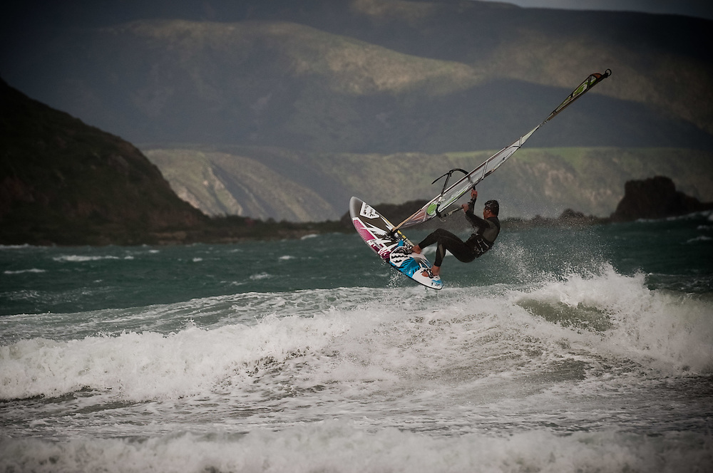Windsurfing at Lyall Bay. ..Photo by Mark Tantrum | www.marktantrum.com