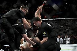 May 28, 2017 - Stockholm, SVERIGE - 170528 Sveriges Alexander Gustafsson vann mot Brasiliens Glover Teixeira i lätt tungvikt under kampsportsgalan UFC Fight Night den 28 maj 2017 i Stockholm  (Credit Image: © Joel Marklund/Bildbyran via ZUMA Wire)