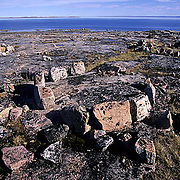 Northwest Territories, known as Nunuvat, Canada. Ancient Inuit tent rings.