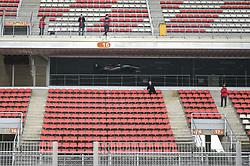 February 19, 2019 - Barcelona, Spain - Italian driver Antonio Giovinazzi of Italian team Alfa Romeo Racing driving his single-seater during Barcelona winter test in Catalunya Circuit in Montmel?, Spain, on February 19, 2019. (Credit Image: © Andrea Diodato/NurPhoto via ZUMA Press)