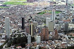 Bogota Cityscape From Monserrate Hill
