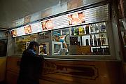 Respubliki Avenue. Nightlife. Kazakh and Russian fast food.