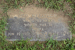 31 August 2017:   Veterans graves in Park Hill Cemetery in eastern McLean County.<br /> <br /> Ned H Batson  WO JG  US Army  World War II  Korea  Jun 19 1912  Feb 1 1976