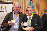 20/11/2014  repro free  Michael Brennan Penn Engineering and Liam Keaveney, A&M First Aid Medical at the Galway Bay Hotel for the two day conference Meet West attracting over 400 business people from around Ireland for the largest networking event in the Country . Photo:Andrew Downes
