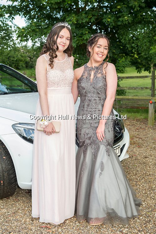20 June 2019: Cleethorpes Academy Year 11 Prom at Brackenborough Hotel near Louth.<br /> (l-r) Kacey Perkins and Holly Giles. <br /> Picture: Sean Spencer/Hull News & Pictures Ltd<br /> 01482 210267/07976 433960<br /> www.hullnews.co.uk         sean@hullnews.co.uk