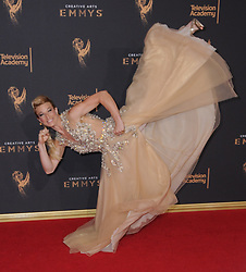 September 9, 2017 - Los Angeles, California, U.S. - Professional stunt woman JESSIE GRAFF during red carpet arrivals for the 2017 Creative Arts Emmy Awards, held at Microsoft Theatre. (Credit Image: © Birdie Thompson/AdMedia via ZUMA Wire)