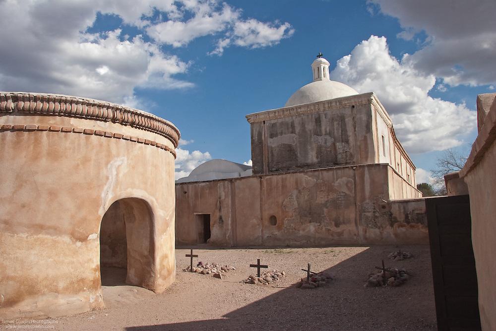 Mortuary chapel and Spanish mission church in Tumacacori National Historical Park, Arizona
