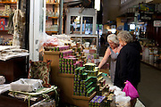 Women shopping in Xania Market, Crete, Greece