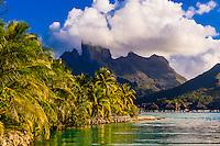 Lagoon, Four Seasons Resort Bora Bora, Motu Tehotu, Bora Bora, French Polynesia.