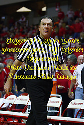 30 January 2011: Referee Tom O'Neill during an NCAA basketball game between the Drake Bulldogs and the Illinois State Redbirds. The Redbirds win in OT 77-75 after a last three point shot by Drake was ruled too late at Redbird Arena in Normal Illinois.