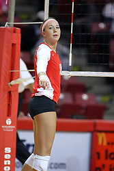 29 October 2011: Kaitlyn Early During a match between the Creighton Bluejays and the Illinois State Redbirds at Redbird Arena in Normal Illinois