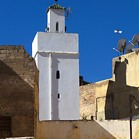 Africa, Morocco, Fes. Buildings of Fes.