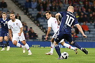 Scotland forward Steven Naismith (10) (Heart of Midlothian) scores a consolation goal for Scotland  1-3 during the Friendly international match between Scotland and Portugal at Hampden Park, Glasgow, United Kingdom on 14 October 2018.