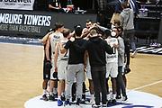 Basketball: Deutschland, 1. Bundesliga, Hamburg Towers -  EWE Baskets Oldenburg, Hamburg, 14.04.2021<br /> Jubel Hamburg Towers<br /> © Torsten Helmke